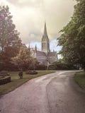 St. Mary's Cathedral, Killarney, Ireland. Park in front of the St. Mary's Cathedral, Killarney, Ireland Royalty Free Stock Image
