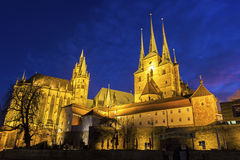 St Mary's Cathedral and St Severus' Church in Erfurt Stock Image