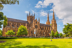 St Mary's Cathedral, Sydney Stock Images
