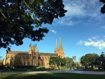 St Mary`s Cathedral Sydney Royalty Free Stock Photo