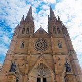 St Mary's Cathedral Sydney. Picture of the facade of St Mary's Cathedral in Sydney Stock Image