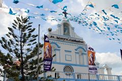 The St. Mary`s Cathedral of Trincomalee, adopting prayer flags l