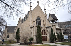 St. Mary's Cathedral, Winnipeg. City, Manitoba province, Canada royalty free stock images