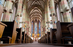 St Mary`s chapel at Würzburg Market Square Royalty Free Stock Image