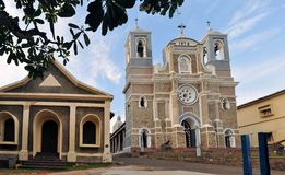St. Mary's Christian Cathedral, Galle Sri Lanka Royalty Free Stock Photos