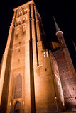 St. Mary's Church. In Gdansk at night Royalty Free Stock Image