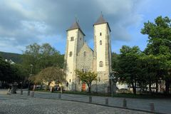 St. Mary's church in Bergen Stock Photos