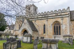 St Mary`s Church, Bibury. A view of the Grade 1 listed St Mary`s Church, Bibury, Gloucestershire Stock Photos