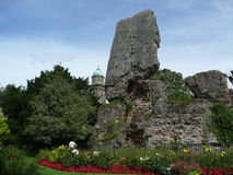 St Mary's Church and Bridgnorth Castle stock photo