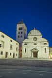 St.Mary`s church and convict at dusk Royalty Free Stock Image