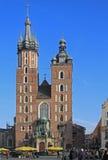 St. Mary's Church, famous landmark in Krakow, Poland Stock Photos