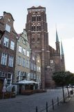 St. Mary`s Church or formally the Basilica of the Assumption of the Blessed Virgin Mary  is a Roman Catholic church in Gdansk, Pol. And Stock Image