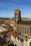 St. Mary`s Church or formally the Basilica of the Assumption of the Blessed Virgin Mary is a Roman Catholic church in Gdansk, Pola. Nd Stock Photo