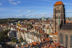 St. Mary`s Church or formally the Basilica of the Assumption of the Blessed Virgin Mary is a Roman Catholic church in Gdansk, Pola. Nd Stock Photos