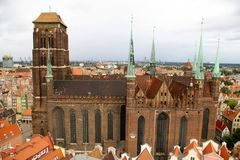 St. Mary's Church in Gdansk Stock Images