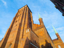 St. Mary's Church in Gdansk. Basilica of the Assumption of the Blessed Virgin Mary, Gdansk, Poland Stock Photos