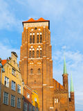 St. Mary's Church in Gdansk. Basilica of the Assumption of the Blessed Virgin Mary, Gdansk, Poland Royalty Free Stock Images