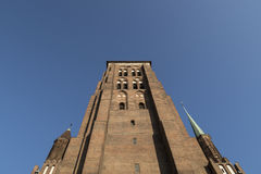 St. Mary`s church in Gdansk. Looking up St. Mary`s church in Gdansk/ Poland Royalty Free Stock Photos