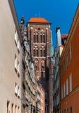 St. Mary's Church in Gdansk, Poland royalty free stock photos