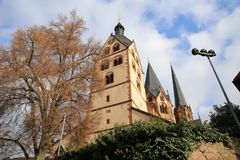 St. Mary s Church Gelnhausen in Gelnhausen, Hesse, Germany. St. Mary s Church Gelnhausen in Gelnhausen, Hesse Germany stock photo