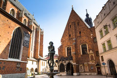 St. Mary's Church in historical center of Krakow Royalty Free Stock Photo
