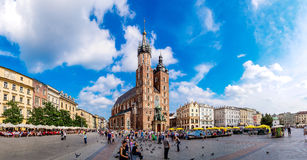 St. Mary's Church in a historical part of Krakow Royalty Free Stock Image
