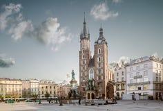 St Mary's Church (Kosciol Mariacki) at the main Market Square (R Royalty Free Stock Image