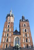St Mary's church in the Krakow stock photography