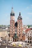 St. Mary's church in Krakow. View at St. Mary's Church, famous landmark in Krakow, Poland Stock Photography
