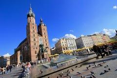 St. Mary`s Church in Krakow Stock Photo