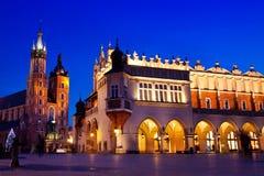 St. Mary's church in Krakow at night Stock Photo