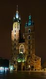 St Mary's Church in Krakow (Poland). St. Mary's Basilica is a Brick Gothic church built in the 14th century, adjacent to the main market square in Krakow, Poland Royalty Free Stock Photo
