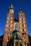 St Mary's church in the Krakow's Royalty Free Stock Image