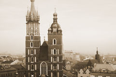 St. Mary's church in Krakow Stock Photography