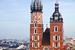 St. Mary's church in Krakow Stock Images