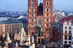 St. Mary's church in Krakow Royalty Free Stock Images