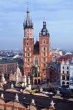 St. Mary's church in Krakow. St. Mary's church and Sukiennice in Krakow Stock Photos