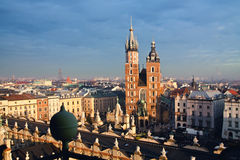 St. Mary's church in Krakow Royalty Free Stock Image