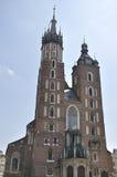 St. Mary's Church  in Kraków, Poland Stock Photography