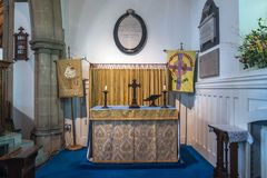 St Mary`s Church Ladies Chapel In West Malling Kent Royalty Free Stock Images