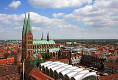 St. Mary's Church in Luebeck Royalty Free Stock Photography