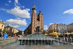 St. Mary`s Church in Krakow Stock Images