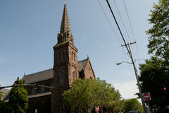 St Mary`s Church - Newport - Rhode Island. St Mary`s Church Place of JFK Wedding - Newport - Rhode Island royalty free stock images