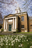 St Mary's Church, Paddington with Narcissus. White flowering narcissus flowers - sometimes known as daffodils - in the churchyard of St Mary's Church in Stock Photography