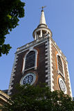 St Mary's Church in Rotherhithe, London. Royalty Free Stock Images