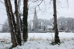 St Mary's Church Snow fall Stock Images