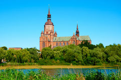 St. Mary's Church in Stralsund. Germany Stock Photos