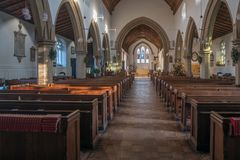 St Mary`s Church West Malling Kent England Stock Photo