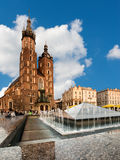St. Mary's Gothic Church in Krakow Stock Image