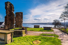 St Mary`s Graveyard looks over South Bay royalty free stock photography
